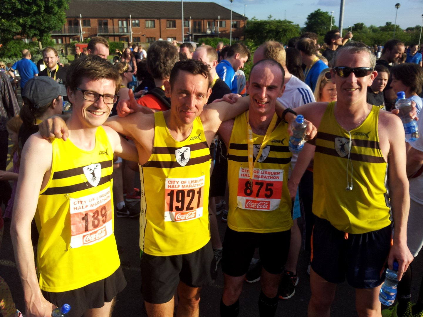 Kent, Mark, Michael and Gareth post half marathon