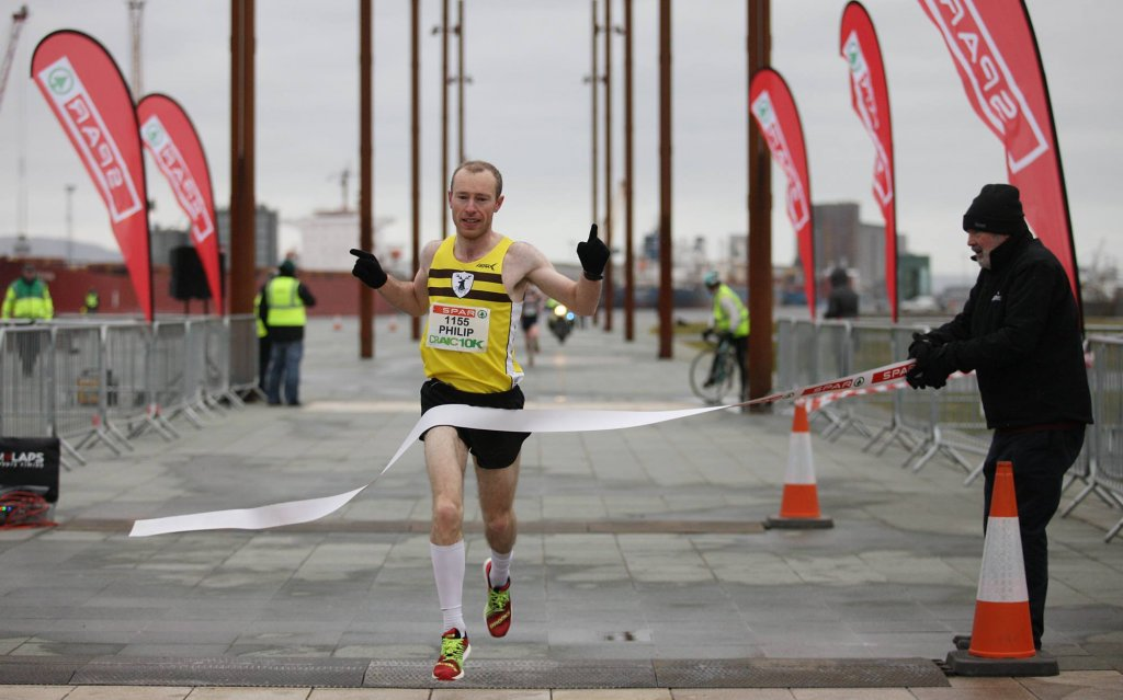 Philip Goss wins the Craic 10k